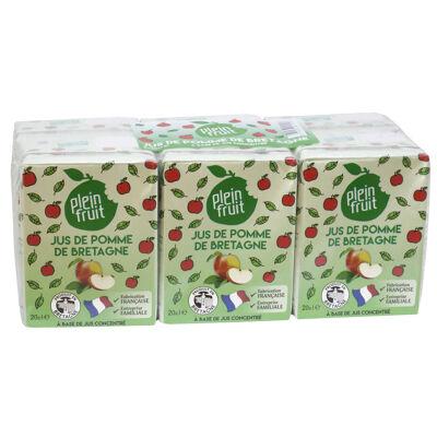 Jus de pommes de bretagne à base de concentré 6x20cl (Plein fruit)