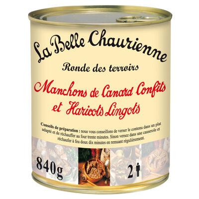 Manchons de canard confits et haricots lingots 840 g (La belle chaurienne)
