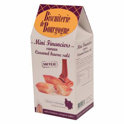 Etui de mini financiers caramel beurre salé de 150g (Biscuiterie de bourgogne)