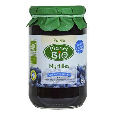 Purée de myrtilles bio sans sucres ajoutés 330g (Planet bio)