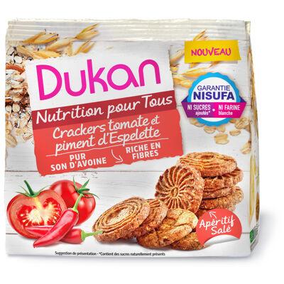 Crackers tomate et piment d'espelette (Dukan)