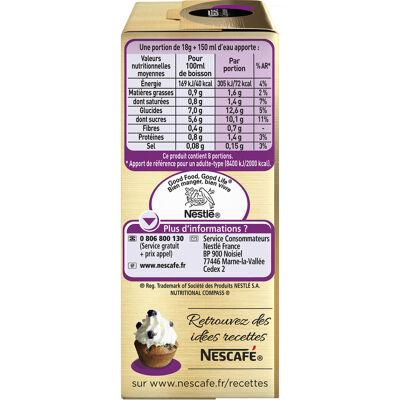Nescafe café viennois, café soluble, boîte de 8 sticks (18g chacun) (Nescafé)