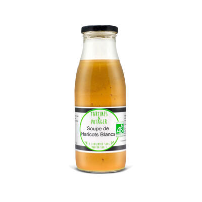 Soupe de haricots blancs bio tartines et potager 50cl (Tartines & potager)