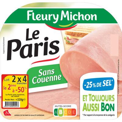 Lot 2 le 2ème à -50% (4 tr. le jambon de paris cuit s.c., - 25 % de sel) (Fleury michon)