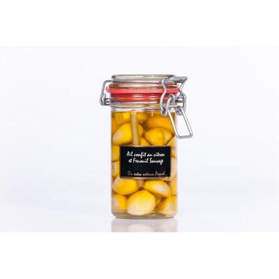 Ail confit au citron et fenouil (Popol)