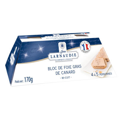 Bloc de foie gras origine france lingot 170g (Jean larnaudie)