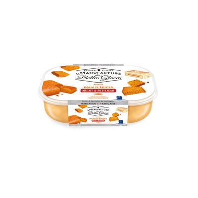 Crème glacée pain d'épices mulot & petitjean 750 ml / 487,5g (La manufacture des belles glaces)