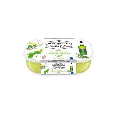 Glace chartreuse verte 750 ml / 487,5g (La manufacture des belles glaces)