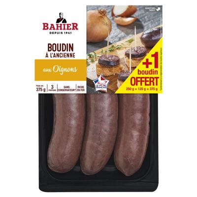 Boudin noir oignons x2 + 1 portion offerte (Bahier)