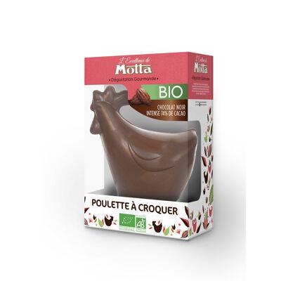 Poulette chocolat noir 74% bio 125g (Motta)