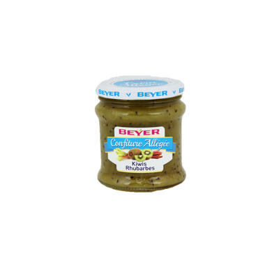 Confiture extra allégée kiwis rhubarbes (Beyer)
