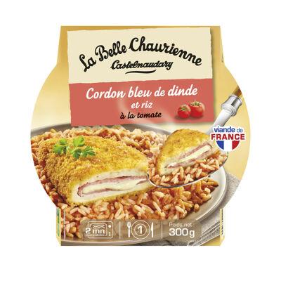 Cordon bleu de dinde et riz à la tomate 300 g (La belle chaurienne)