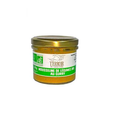 Mousseline de légumes bio au curry verrine 90g (Terroir de caractère)