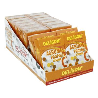 Présentoir de chewing-gums sans sucre agrumes vitamine c propolis (Deligom')
