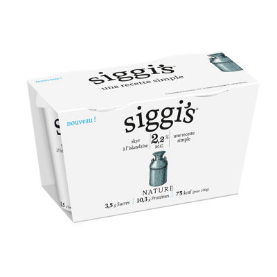 Siggi's yaourt skyr 2.2% nature 2x140g (Siggi's)
