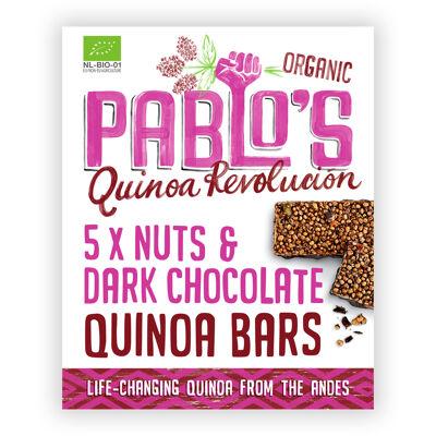 Pablo's quinoa revolucion barre noisettes & chocolat noir 5x25g, bio et sans gluten (Pablo's quinoa revolucion)