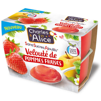 C&a ssa veloute p/fraises 4x97g (Charles & alice)