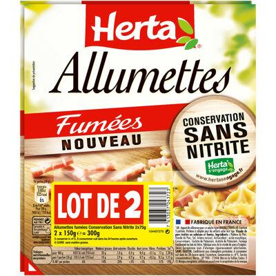 Herta allumettes fumées conservation sans nitrite - lot de 2 (Herta)