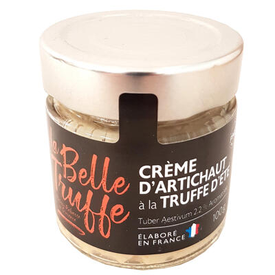 Crème d'artichaut à la truffe d'eté 2,2% tuber aestivum, aromatisée (La belle truffe)