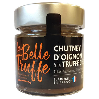 Chutney d'oignon à la truffe d'eté 2,2% (tuber aestivum) aromatisé (La belle truffe)