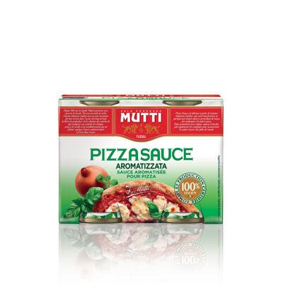 Sauce pizza aromatisée 2x400g (Mutti)