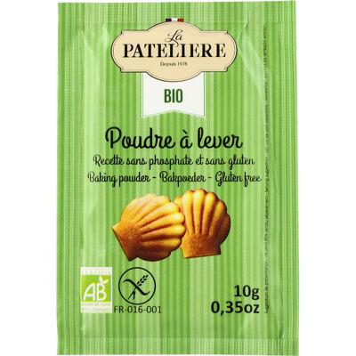 La pateliere / sucres & levures / poudre à lever sans phosphate sans gluten biologique / 8 x 10 g (La patelière)