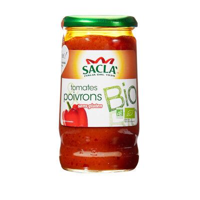 Sauce tomates et poivrons 345 gr - bio (Sacla)