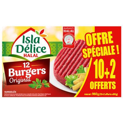 Hamburger halal 10+2 oft 960 gr (Isla délice)