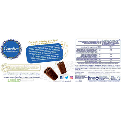 Lot de 2 etuis de crepes dentelle au chocolat noir gavottes + 1 etui offert (Gavottes)