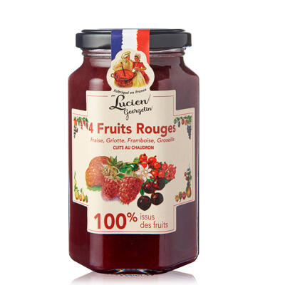 Specialite 100% idf 4 fruits rouges 300g (Lucien georgelin)