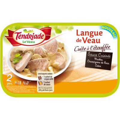 Langue veau cuite avec sauce (Tendriade)