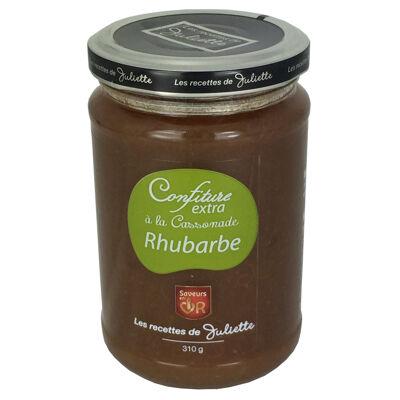 Confiture extra rhubarbe à la cassonade 310g (Les recettes de juliette)