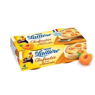 La laitiere clafoutis aux abricots 4x85g (La laitiere)