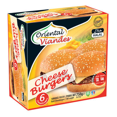 Cheeseburger halal 6x125g (Oriental viandes)