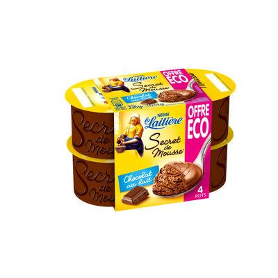 La laitiere secret de mousse chocolat au lait 4x59g offre eco (La laitiere)