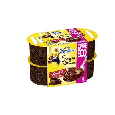 La laitiere secret de mousse chocolat noir 4x12cl / 59g offre eco (La laitiere)