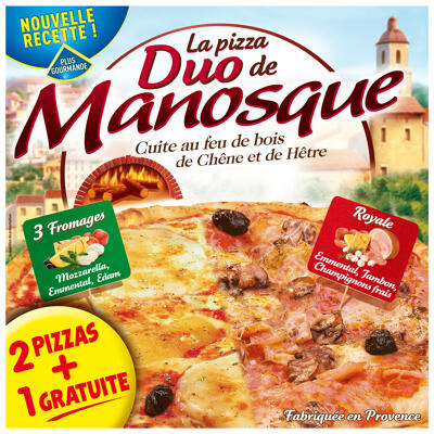 Pizza duo royale - 3 fromages (3x400g) (La pizza de manosque)