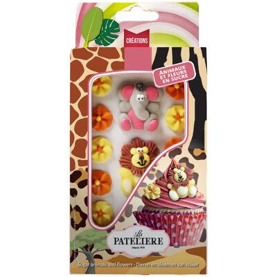 La pateliere / décors à parsemer / assortiment d'animaux et fleurs en sucre (La patelière)