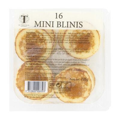 16 mini blinis le traiteur gourmet 135g (Le traiteur gourmet)