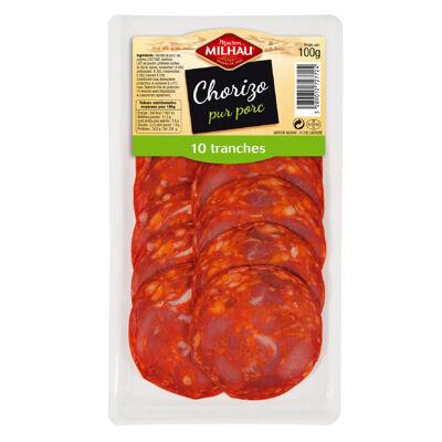 Pack chorizo 10 tranches 100 g (Maison milhau)