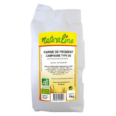 Farine de froment bio campagne t80 bio 1 kg (Naturaline)