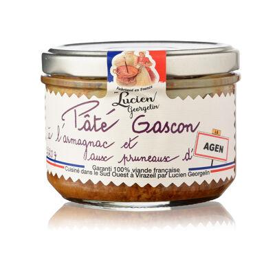 Pate gascon a l'armagnac et aux pruneaux d'agen 220g vieilles conserves d'autrefois (Les recettes cuites au chaudron)