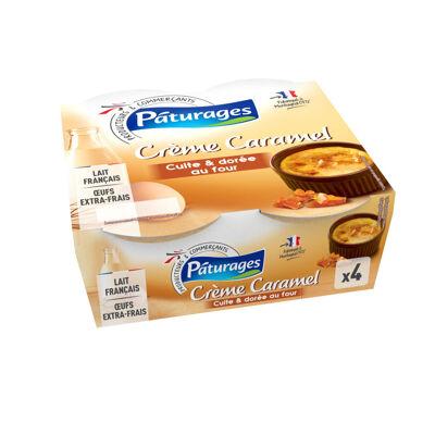 Crème caramel cuite & dorée au four (Paturages)