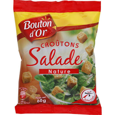 Croutons salade nature (Bouton d'or)