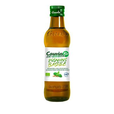 Préparation huile de pignon bio arome basilic 25cl (Cauvin)