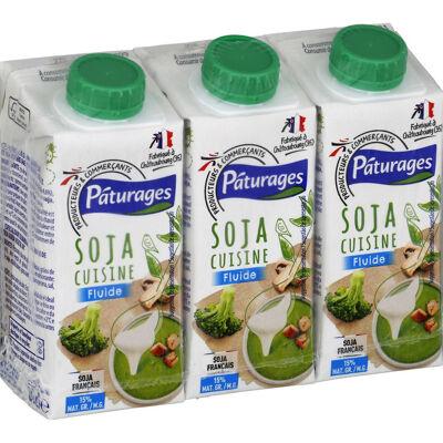 Soja cuisine 15% mg, fluide (Paturages)