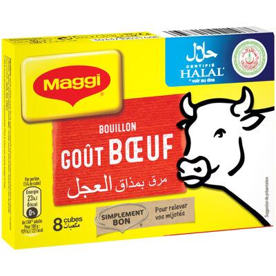 Maggi bouillon goût bœuf halal 8 tablettes, 80g (Maggi)