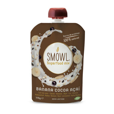 Superfood mix banana cocoa & açaï 115g (Smowl)
