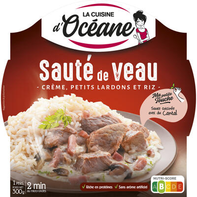 Sauté de veau, crème, petits lardons & riz (La cuisine d'océane)