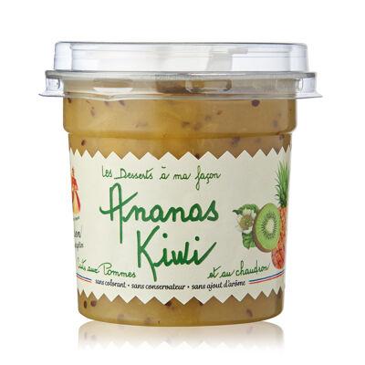 Dessert pomme ananas kiwis 140g snacking dome et cuillere (Les recettes cuites au chaudron)